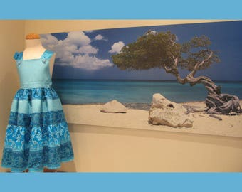 Ocean Dress Age 6 by Serendipity Girls Designer Dresses