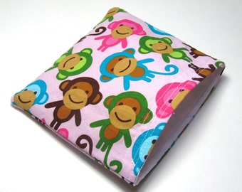 Reusable Snack Bag, Eco-Friendly Snack Bags, Urban Monkey Snack Bag, Eco Lunch Containers, Back To School Waste Free Lunch Bag