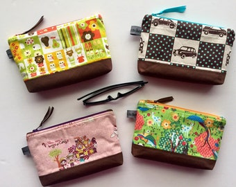 Canvas Zippered Pouch//Assorted Prints