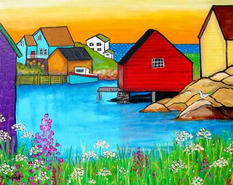 Peggys Cove,fishing village, nova scotia  Shelagh Duffett print
