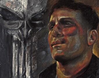 Punisher - Frank Castle - Daredevil - Pastel - Art Print