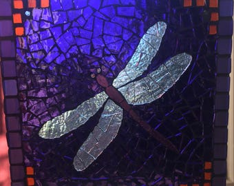 Dark Purple Dragonfly Suncatcher