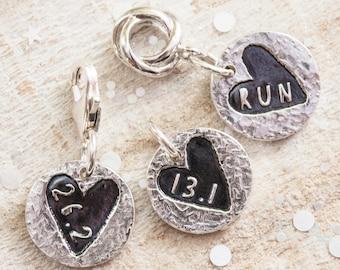 Silver Runners Charm, Gift for Runner, Running Jewellery, Marathon, Half Marathon, 13.1 Charm, 26.2 Charm, Run Charm, Gift