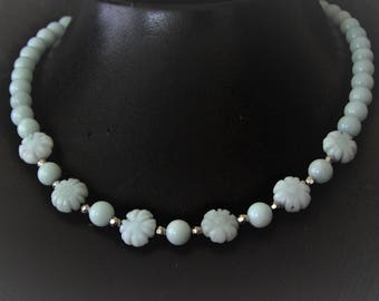 Necklace light green amazonite