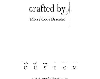 CUSTOM Morse Code Bracelet   Secret message bracelet