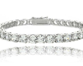 Silver with Cubic Zirconia's Tennis Bracelet
