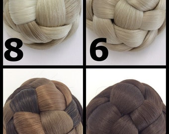 Hairbuns / chignon / hair extensions / wedding up do / comb/ clip in