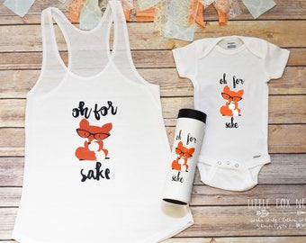 Mommy & Me Outfit, Oh For Fox Sake Gift Set