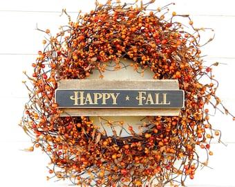 Fall Wreath-Fall Door Wreath-Thanksgiving Wreath-Autumn Wreath-ORANGE Berry Wreath-Rustic Home Decor-Orange Door Wreath-Housewarming Gifts