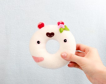 Loopina Donut handmade plush toy cuddly toy