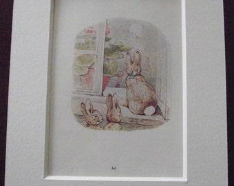 Original 1940's edition of Beatrix Potter's  'The Tale of The Flopsy Bunnies'.
