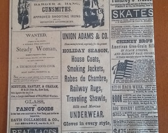 20 Kraft Vintage Newsprint Bags 6x9 - Retail bags - Merchandise bags