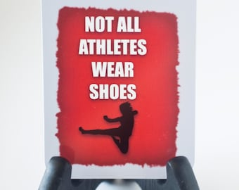 Not all Athletes wear shoes Karate Bag Tag Luggage