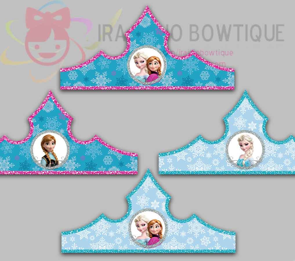 Ice Princess Paper Crown Ice Princess Party Hat Paper Tiara
