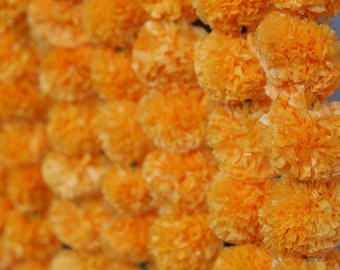 Bright and Cheery Yellow Pompoms (Digital File)