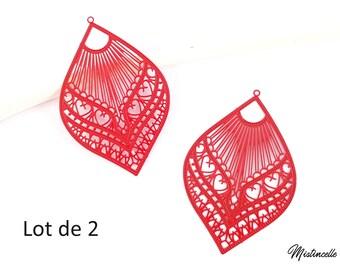 Prints filigree drops Red