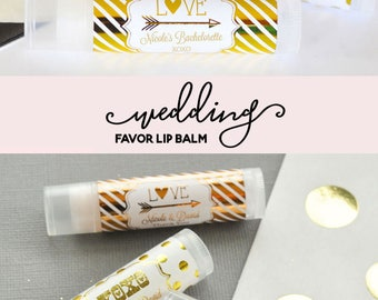 Personalized Wedding Favors - Cheap Wedding Favor Ideas - Practical Wedding Favors - Wedding Lip Balm Favors (EB3031FW) set of 16|