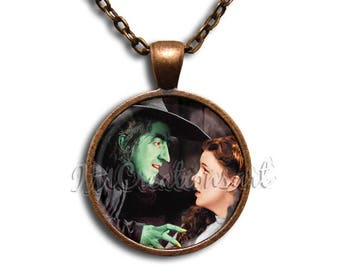 Wizard of Oz My Pretty Glass Dome Pendant or with Chain Link Necklace
