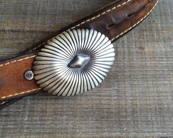Silver Belt Buckle for Men or Women, Navajo Belt Buckle, Southwestern Belt, Concho Belt Buckle