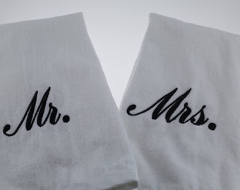 Mr. and Mrs. His and Hers Hand Towels