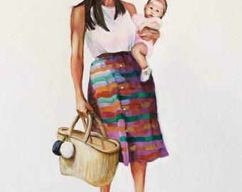 Motherhood Portrait 8x10 acrylic