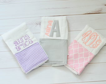 Burp cloths personalized baby gift baby girl burp cloth burp cloths personalized baby gift baby girl burp cloth baby girl gift negle Images