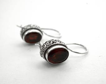 Garnet Earrings Bali