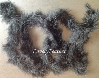 Black marabou feather Boas 18 grams 2 yards long craft