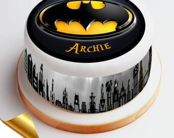 7.5' Diameter Icing Cake Topper - Batman