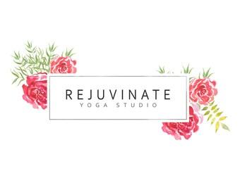 Premade Logo / Blog Header Design / Branding - Geometric Floral Design