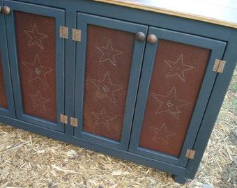 Sideboard Buffet Storage Tin Punch Star