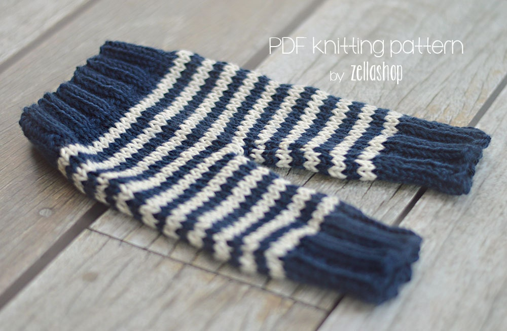 Knitting Pattern Cozy Baby Newborn Pants photography prop