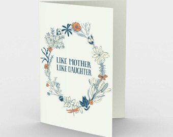 Set of 3 Like Mother Like Daughter Greeting Card Mother's Day