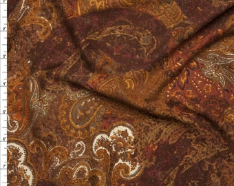 Chocolate and Wine Paisley Fabric Choice