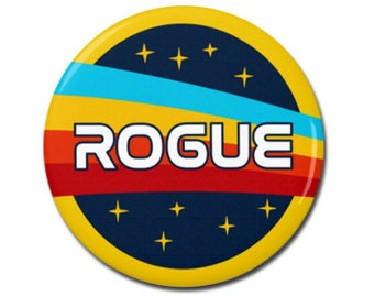 "Rogue Space Nasa Button 1.25"" or 2.25"" Pinback Pin Button Badge Anti Trump, Pro Science, Scientist, March for Science, Space Astronaut"