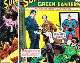 DC Comics Presents comic book lot, 6 and 7. Superman, Green Lantern, Red Tornado, Superhero, Bronze Age. 1979 DC Comics in VF (8.0)