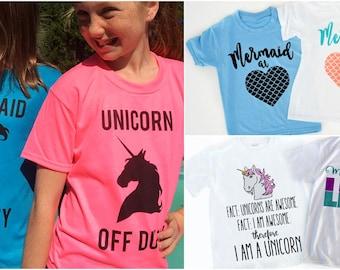 Summer Graphic Tees | Mermaid & Unicorn!