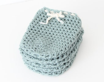 Wine Bottle Cozy in Sea Foam (Set of 5) - SALE