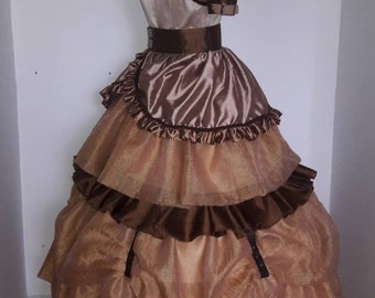 Steampunk Beauty and the Beast dress