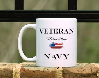 United States Navy Veteran Mug