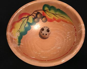 Mid Century Folk Art Nut Bowl