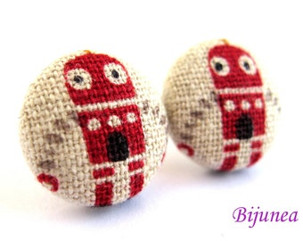 Robot earrings - Robot stud earrings - Robot studs - Robot post earrings - Robot posts sf1018