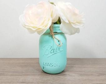 Mint Wedding, Mint Mason Jars, Wedding Jar, Wedding Mason Jars, Wedding Table Decor, Bridal Shower Decorations, Mint Shower, Mint Decor
