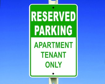 Reserved Parking Aluminum Sign