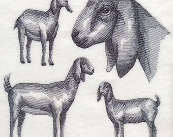 Custom Embroidered Nubian Goat Sweatshirt S-3XL