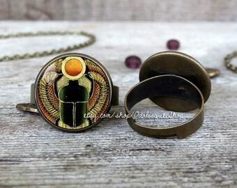 Scarab ring, Scarab adjustable ring, Scarab jewelry, Egyptian Scarab ring, Men's scarab ring, Women's scarab ring, BR262B