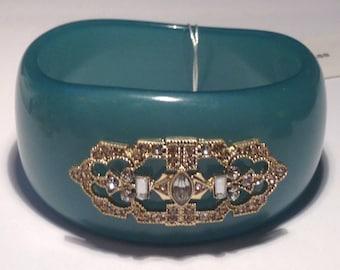 Vintage 90's NOS Danielle Stevens Green Bangle Bracelet