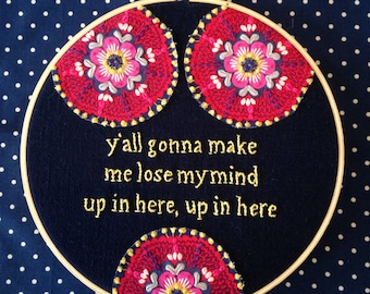 DMX lyrics in embroidery say it best