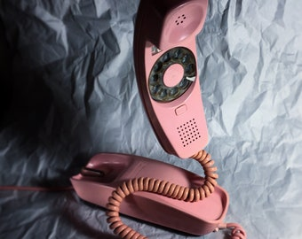 Western Electric Pink Trimline Rotary Phone
