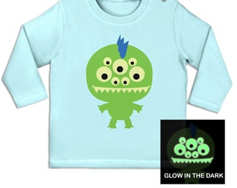 Monster (Glow In The Dark) long sleeve baby t-shirt